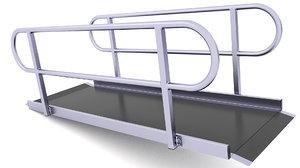 3D wheelchair mat traction model