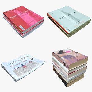 3D magazines books