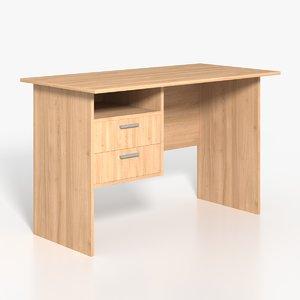 simple writing desk table 3D model