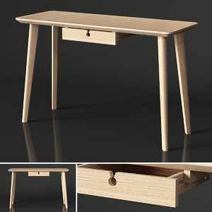 3D ikea lisabo desk model