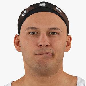 marcus human head lip 3D model
