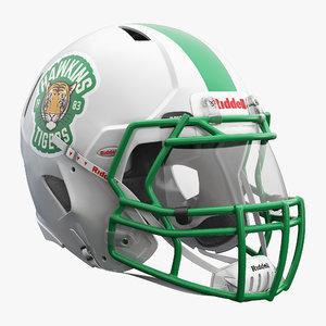 american footbal helmet riddell 3D model