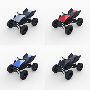 tesla cyberquad atv quads 3D