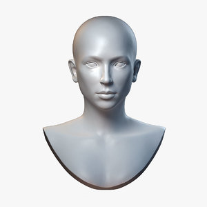 3D beauty bust sculpture base mesh model