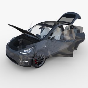 3D tesla y rwd chassis