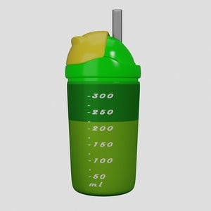 3D baby-care water bottle