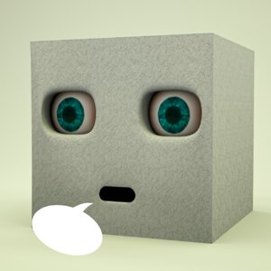face rigged cube 3D model