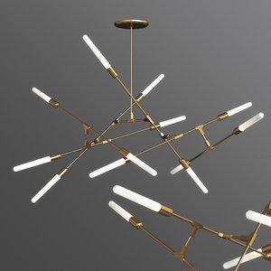 3D model dawn chandelier treniq