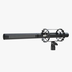 3D model mic microphone shotgun