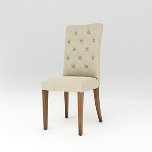 3D padded dining chair