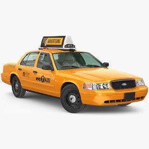 3D cab taxi yellow