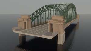 rainbow arch steel bridge 3D model