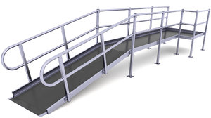 wheelchair traction ramp 3D model