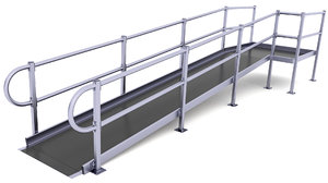 3D wheelchair traction ramp model