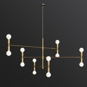 3D yoka modern pendant lighting model