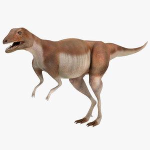 3D lesothosaurus lesotho rigged animation model