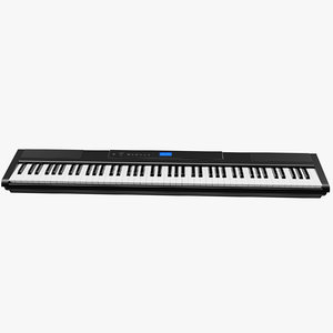 3D digital piano keyboard