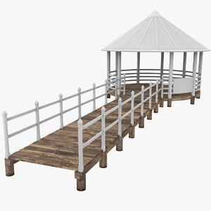 pontoon fence 3D model