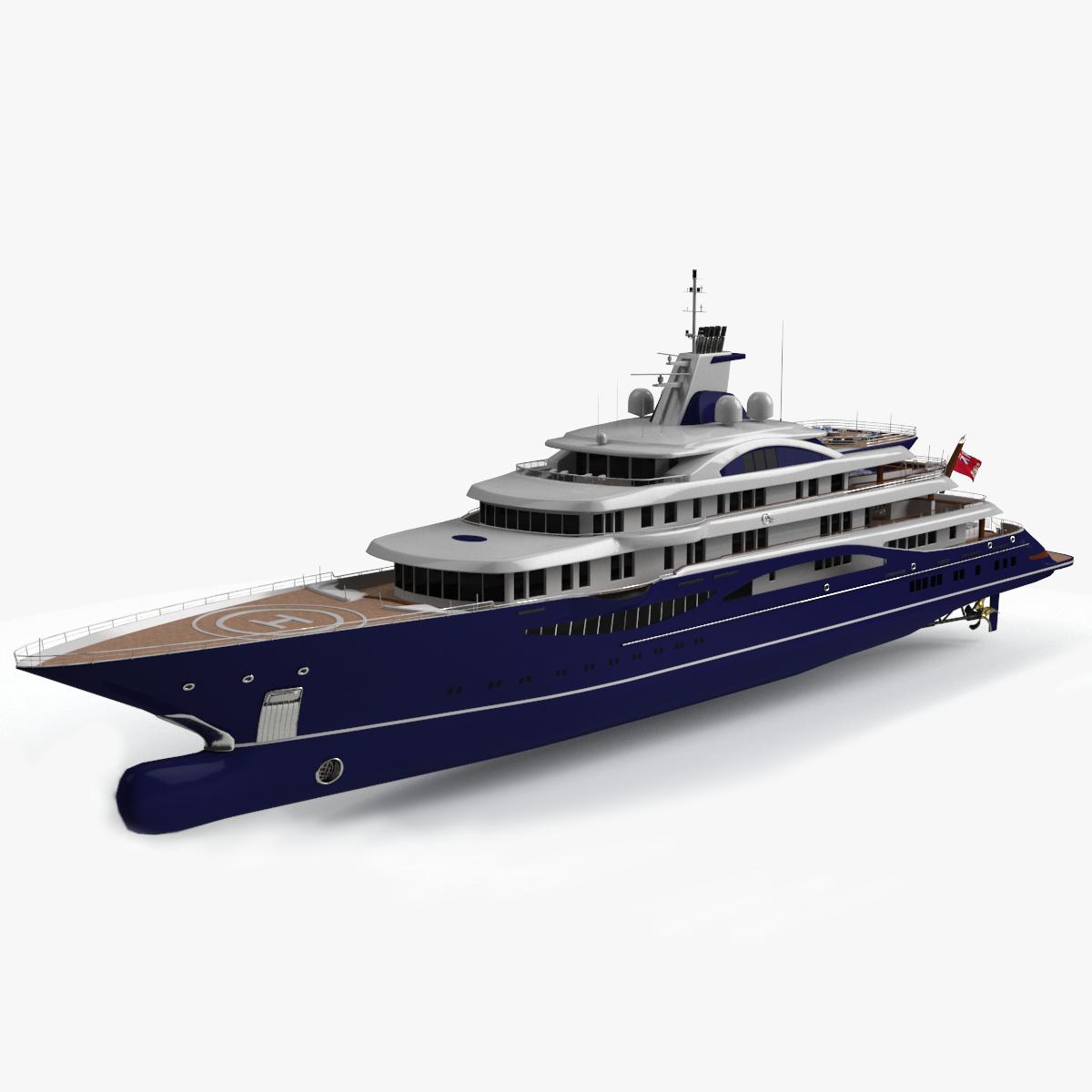 tis luxury yacht lurssen 3D
