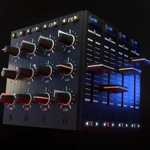 3D model dj mixer