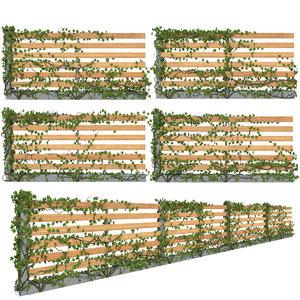 fence ivy 3D model
