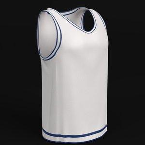 3D basketball jersey mockup model