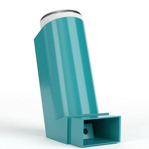 mdi metered dose inhaler 3D