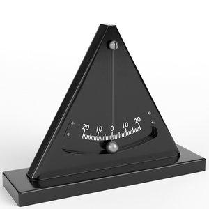 simple inclinometer 3D