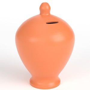 3D terracotta piggy bank money box
