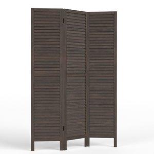 3D wood room panel divider model