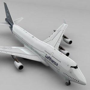 boeing 747 lufthansa l801 3D