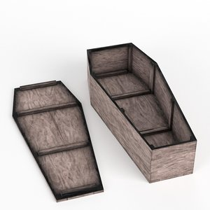 rustic coffin 3D model