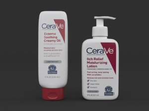 cerave itch relief moisturizing 3D model