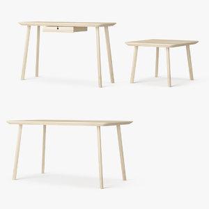 3d model set ikea lisabo tables