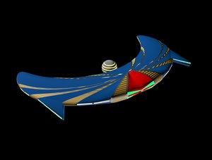 3D spaceship design