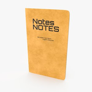 pocket memo notebook 3D model