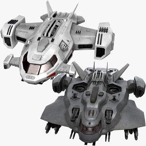 sci fi dropship ships model