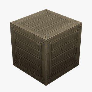 3D wooden box han
