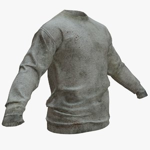 dirty long sleeve t-shirt model
