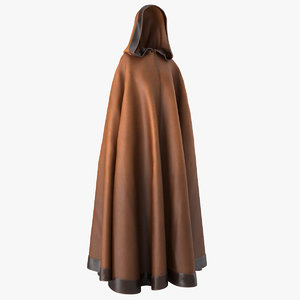 dark cloak cape hood 3D model