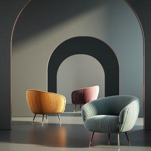 3D chair furniture armchair model