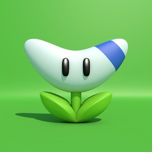 3D mario boomerang flower