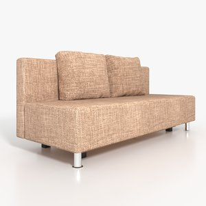 jute sofa 3D