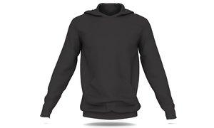 black men hoodie 3D model