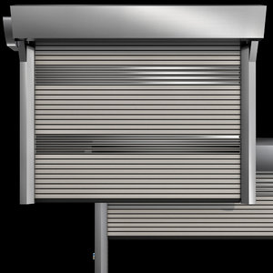 3D metal industrial speed door model
