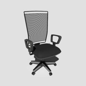 pbr meshback chair 3D model