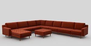 3D modsy sofa normod modules