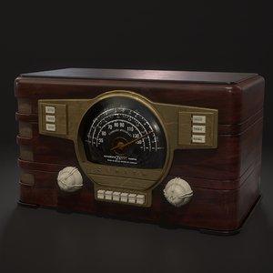 3D vintage zenith radio 7s529