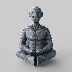 3D pbr statue oldman