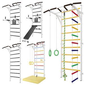 3D model horizontal sports bar swedish